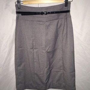 H&M grey pencil skirt with belt